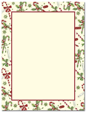 Product Image For Candy Cane with Holly Letterhead